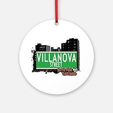 VILLANOVA STREET, STATEN ISLAND, NYC Ornament (Rou