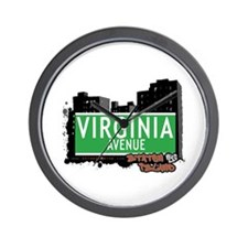 VIRGINIA AVENUE, STATEN ISLAND, NYC Wall Clock