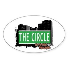 THE CIRCLE, STATEN ISLAND, NYC Oval Decal