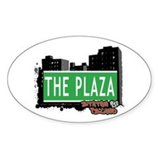 THE PLAZA, STATEN ISLAND, NYC Oval Decal