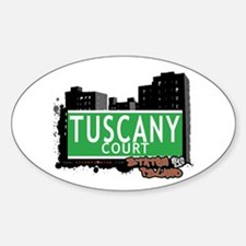 TUSCANY COURT, STATEN ISLAND, NYC Oval Decal