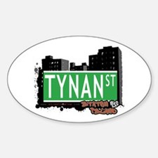 TYSEN STREET, STATEN ISLAND, NYC Oval Decal
