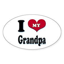 I Love My Grandpa Oval Decal