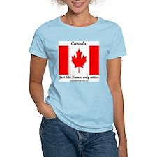 CanadaFranceColder Women's Pink T-Shirt