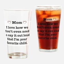 Unique Heart mom Drinking Glass