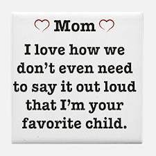 Cute Heart mom Tile Coaster