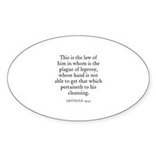LEVITICUS 14:32 Oval Decal