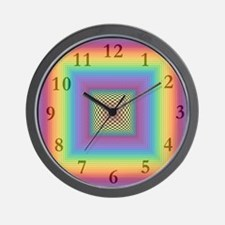 Rainbow Square<br> Wall Clock