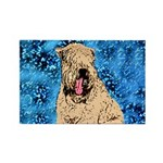 Yawning Wheaten Rectangle Magnet (100 pack)