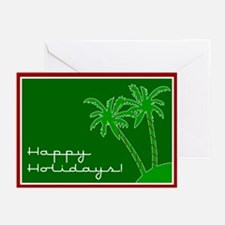 """Palm Tree """"Happy Holidays"""" Christmas Cards -Pack 6"""