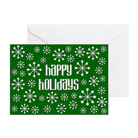 Happy Holidays Retro Snowflake Cards (10 Pk)