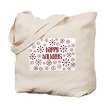 Happy Holidays RetroSnowflake Tote Bag