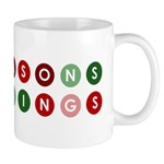 Seasons Greetings Funky Dots Mug