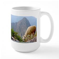 Lama Grazing at Machupicchu - Mug