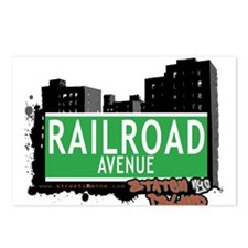 RAILROAD AVENUE, STATEN ISLAND, NYC Postcards (Pac