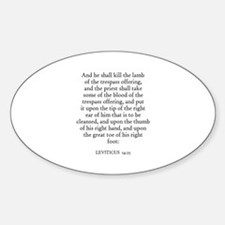 LEVITICUS 14:25 Oval Decal