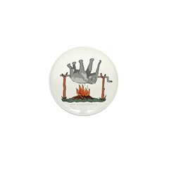Elephant on a spit. Mini Button (10 pack)