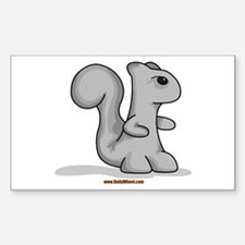 Death Squirrel Rectangle Decal