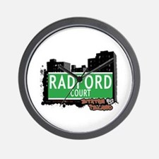 RADFORD COURT, STATEN ISLAND, NYC Wall Clock