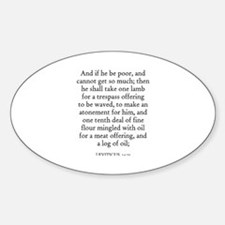 LEVITICUS 14:21 Oval Decal