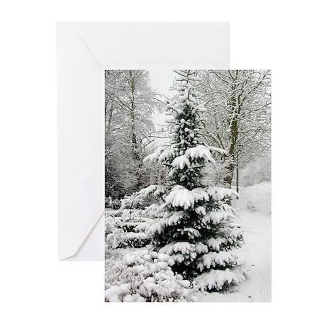 Snow Pine Greeting Cards (Pk of 10)
