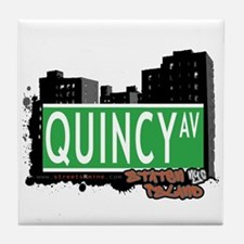 QUINCY AVENUE, STATEN ISLAND, NYC Tile Coaster