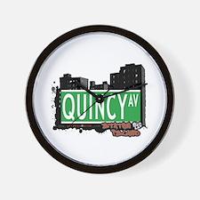 QUINCY AVENUE, STATEN ISLAND, NYC Wall Clock