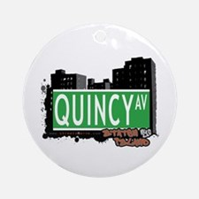 QUINCY AVENUE, STATEN ISLAND, NYC Ornament (Round)