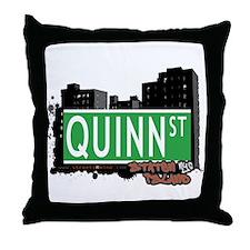 QUINN STREET, STATEN ISLAND, NYC Throw Pillow