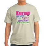 Knitting Kitten Light T-Shirt