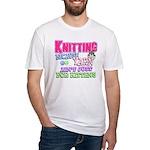 Knitting Kitten Fitted T-Shirt