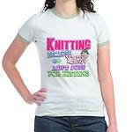 Knitting Kitten Jr. Ringer T-Shirt