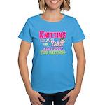 Knitting Kitten Women's Dark T-Shirt