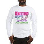 Knitting Kitten Long Sleeve T-Shirt