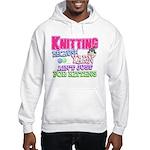 Knitting Kitten Hooded Sweatshirt