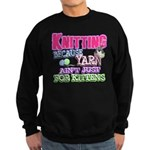 Knitting Kitten Sweatshirt (dark)