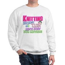 Knitting Kitten Sweatshirt