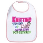 Knitting Kitten Bib