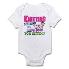 Knitting Kitten Infant Bodysuit