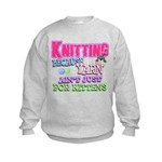 Knitting Kitten Kids Sweatshirt