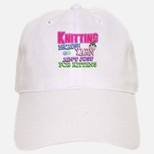 Knitting Kitten Baseball Baseball Cap