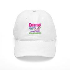 Knitting Kitten Baseball Cap
