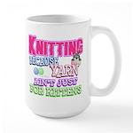 Knitting Kitten Large Mug