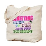Knitting Kitten Tote Bag