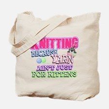 Knitting Kitten Tote Bag