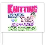 Knitting Kitten Yard Sign