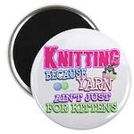 Knitting Kitten Magnet
