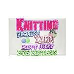 Knitting Kitten Rectangle Magnet