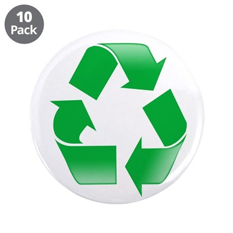"""Recycle 3.5"""" Button (10 pack)"""