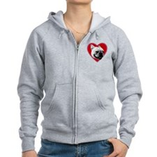 Love French Bulldog Zip Hoody